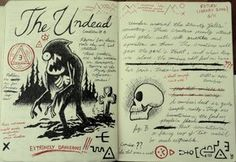 Gravity Falls Journal 3 Replica - The Undead by leoflynn on DeviantArt Gravity Falls Book 3, Libro Gravity Falls, Gravity Falls Journal 1, Dipper And Mabel, Dipper Pines, Journal 3, Journal Pages, Journal Ideas, Bullet Journal
