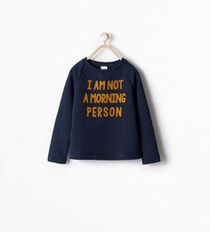 SEQUIN TEXT SWEATSHIRT-Sweatshirts-Girl (3-14 years)-KIDS | ZARA United Kingdom