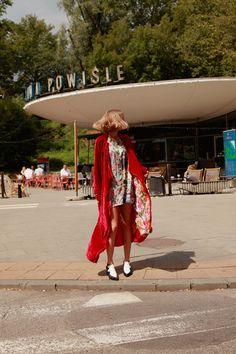 PTASZEK FALL'17 collection...VELVET RED COAT/ silk Dress