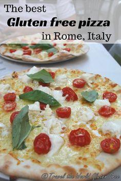 Authentic Italian Gluten Free Pizza at Voglia di Pizza in Rome, Italy - Travel the World Gluten Free Gluten Free Pizza, Gluten Free Recipes, Dairy Free, Incredible Pizza, Authentic Italian Pizza, Home Remedies For Heartburn, Heartburn Relief, Gelato Shop, Gluten Free Restaurants