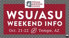 WSU Alumni Association Arizona chapter WSU/ASU weekend infographic | Jonalynn McFadden Design | www.jonalynnmcfadden.com