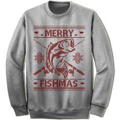 Merry Fishmas Ugly Christmas Sweater.