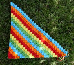 corner-to-corner afghan.like this color pattern Rainbow Crochet, C2c Crochet, Crochet Blocks, Crochet Gifts, Baby Blanket Crochet, Crocheted Afghans, Crochet Edgings, Crochet Blankets, Baby Blankets
