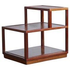 Step End Table Model # 4976 in Sandalwood by Edward Wormley for Dunbar