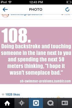 Swim practice/ meet warm-up in a nutshell.