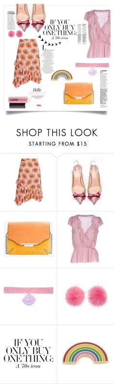"""""""70s icon"""" by emma-leeman ❤ liked on Polyvore featuring Altuzarra, Christian Louboutin, rag & bone, Valentino, Y.R.U., Wild & Woolly and Georgia Perry"""