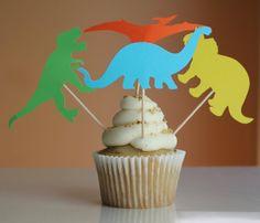 Dinosaur Cupcake Topper, Dinosaur Decoration, Dinosaur Birthday Party, Dinosaur, Dinosaur Theme, Dinosaur Banner, Dinosaur Train Party