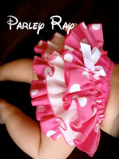 Items similar to Beautiful Parley Ray Minnie Pink Polka Dots Ruffled Baby Bloomers/ Diaper Cover /Photo Prop Disney Minnie Mouse on Etsy Party Wear Maxi Dresses, Baby Girl Party Dresses, Little Girl Dresses, Baby Dress, Baby Bloomers, Baby Girl Romper, Baby Clothes Patterns, Baby Patterns, Girls Tulle Skirt