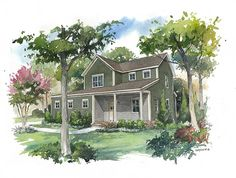 The Beech, a three-bedroom home with a second story master suite, featuring three closets!