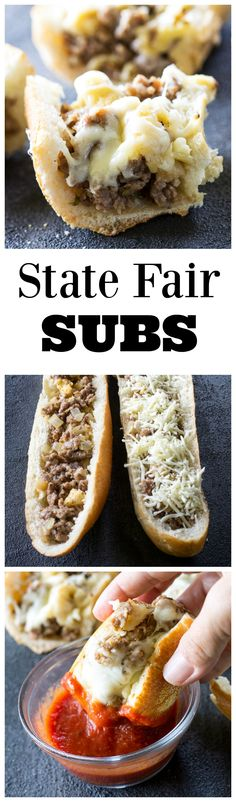 "State Fair Subs - sausage and bread cubes tossed together in an egg milk mixture and baked until toasty! <a href=""http://the-girl-who-ate-everything.com"" rel=""nofollow"" target=""_blank"">the-girl-who-ate-...</a>"