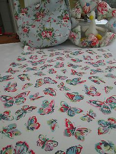 BN Lovely Cath Kidston Large Cotton Duck Remnant In Butterflies
