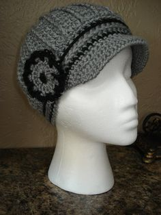 Your place to buy and sell all things handmade Crochet Newsboy Hat, News Boy Hat, Cloche Hat, Neck Warmer, Scarves, Classy, Gray, Knitting, Hats