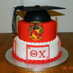 Theta Chi Fraternity Cake for a groom's cake without the graduation cap! Fraternity Gifts, Theta Chi, Frat Parties, Crazy Cakes, Novelty Cakes, Camping Crafts, Cute Cakes, Cake Creations, Graduation
