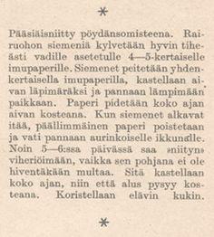 SKS vuotuisjuhlat. Pääsiäinen. Kotiliesi 7/1936 Easter, Hacks, Math, Spring, Tips, Easter Activities, Math Resources, Mathematics, Counseling