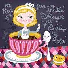 Helen Dardik ~ Alice in Wonderland party