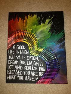 #crayon art with quote this very ,very,nice.thank you like                                                                                                                                                                                 More