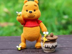 Share a Pattern – Page 7 – The best patterns, every day. Toys Patterns winnie the pooh crochet Winnie the Pooh easy pattern Crochet Panda, Crochet Bear, Crochet Dolls, Crochet Amigurumi Free Patterns, Free Crochet, Mini Teddy Bears, Winnie The Pooh Nursery, Crochet Disney, Knitted Animals