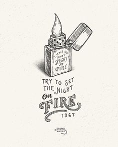 Come on baby Light My Fire The original song Light my Fire by The Doors was released in 1967 January.It spent three weeks at #1 on the Billboards Hot 100 and one week on the Cashbox Top 100. #salmoworks #illustration #drawing #handdrawing #artwork #lettering #typography #graphicdesign #lightmyfire #thedoors #jimmorrison #1967 #60s #60smusic #zippo #fire #vintage by salmo.works