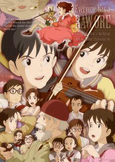 Whisper of the Heart | Hiiragi Aoi | Studio Ghibli / Tsukishima Shizuku and Amasawa Seiji / 「RAW ORE」/「zo-jo-man」のイラスト [pixiv]