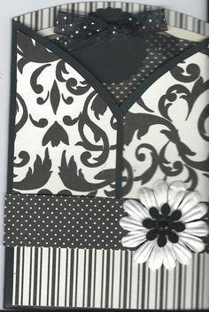 black & white tri-fold w/insert