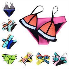 2016 New Women's Triangl Mesh Neoprene Swimwear Patchwork Neoprene Bikini Neon Bathing Suit Biquini Bikini XS-XL Buy from china:2015 New Women's Triangl Mesh Neoprene Swimwear Patchwork Neoprene Bikini Neon Bathing Suit Biquini Bikini XS-XL