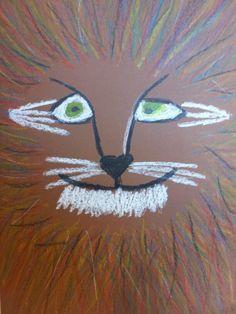 Leeuw tekenen van wasco!