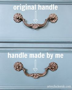 Missing Hardware? Here's a solution! Make one to match...it's simple!  #diy #craft- artsychicksrule.com