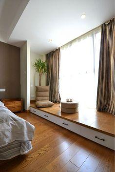 43 Brilliant Furniture Design Ideas With Wood Pallets – Modern house design - New ideas Home Room Design, Bed Design, Home Interior Design, Interior Decorating, Window Design, Interior Ideas, Design Bedroom, Interior Modern, Modern Luxury