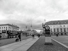 Clock Photograph - Clock In Berlin by Cuiava Laurentiu Canvas Prints, Framed Prints, Berlin Wall, Weekender Tote, Wood Print, Beach Towel, Beverly Hills, Street View, Clock
