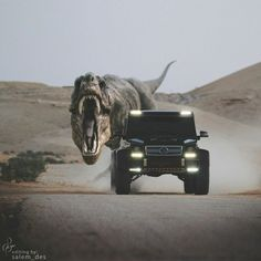 The M-Class once debuted in Steven Spielberg's 1997 Jurassic Park. Are the Dinosaurs now fighting back? Photo shot by @omaralfehaid, edited by @salem_des, G 63 AMG 6x6 owned by @badr1bin4saud.   #MercedesBenz #G63AMG6x6 #AMG
