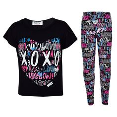 Kids Girls XOXO Printed Trendy Top & Cool Graffiti Fashion Legging Set 7-13 Year. Kids Girls Xoxo Printed Top & Cool Graffiti Fashion Legging Set. XOXO Printed on The Front Of The Top. Two Piece set. Available Size; 7-8 Year, 9-10 Year, 11-12 Year, & 13 years. A Nice, Great & Perfect Gift For Girls.