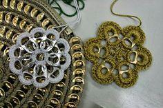Harsin ja parsin: Pussukoita ja muuta mukavaa klipsuista (crochet + soda can pull tabs)