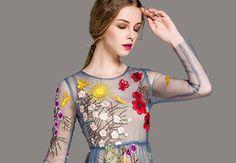 Embroidered Dresses Special | Womens Designer Dresses Promotion Online - Dezzal.com