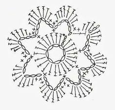 Watch The Video Splendid Crochet a Puff Flower Ideas. Wonderful Crochet a Puff Flower Ideas. Crochet Snowflake Pattern, Crochet Flower Tutorial, Crochet Snowflakes, Crochet Flower Patterns, Doily Patterns, Crochet Squares, Crochet Designs, Crochet Flowers, Crochet Diagram
