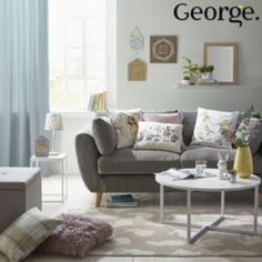 Invite countryside charm into your living space with rustic-style furniture and nature-themed, soft pastel accessories.