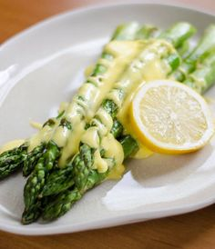 Roasted Asparagus with Easy Blender Hollandaise Sauce ~ http://cookeatpaleo.com