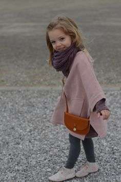 Poncho by Talc - Kaszka Z Mlekiem..Maddie will never keep this on, but it could be worth a shot! #stylechild