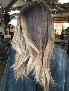 Baliage Hair, Balayage Long Hair, Brown To Blonde Balayage, Brown Blonde Hair, Balayage Highlights, Hair Color Balayage, Brown To Blonde Ombre Hair, Caramel Blonde, Beige Blonde