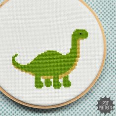 """Dinosaur cross stich PDF pattern. It just needs a cursive, """"Curse your sudden but inevitable betrayal,"""" right above it. Granted, it is the wrong dino."""