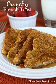 Crunchy French Toast for breakfast.  Can't wait to try this one