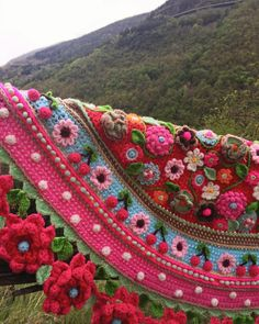 Gorgeous crochet rug