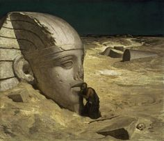 The Questioner of the Sphinx : Elihu Vedder  :  circa 1863 #Realism