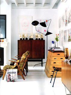 { Iconic Serge Mouille floor lamp }
