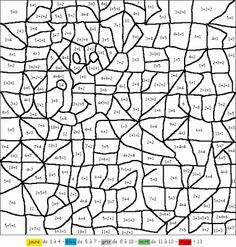 coloriage magique addition et exercices d'addition