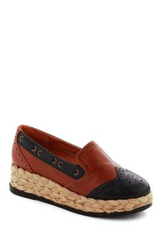 Vegan shoes. If you know me, you'll know why I LOVE these.. Chairman of the Boardwalk Wedge, #ModCloth