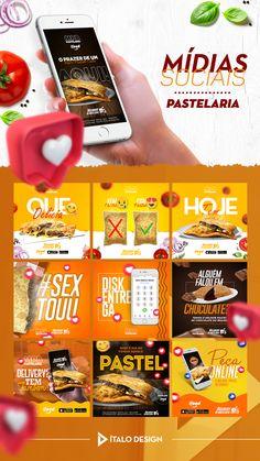 Pastelaria Social Media Poster, Social Media Banner, Social Media Design, Social Media Marketing, Food Graphic Design, Food Poster Design, Ad Design, Instagram Banner, Instagram Design
