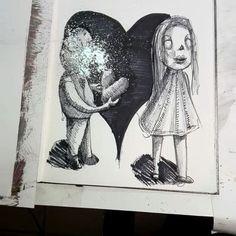 "116 Likes, 6 Comments - Carlos Brawni (@brwniie) on Instagram: ""Dia 14. Amor  #artnestoltes"""