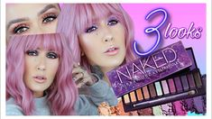 UD NAKED ULTRAVIOLET: 3 LOOKS & REVIEW - YouTube Beauty Brushes, Beauty Dupes, Beauty Makeup, Hair Beauty, Eye Makeup, Urban Decay Eyeshadow, Urban Decay Makeup, Lash Growth Serum, Brow Tutorial