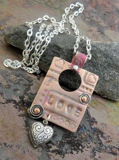 Love Necklace Color Patina Copper Necklace by ThePurpleLilyDesigns, $20.00