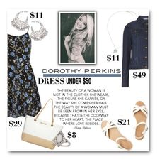 """Dorothy Perkins Dress Under $50"" by lalalaballa22 ❤ liked on Polyvore featuring Dorothy Perkins and Dressunder50"